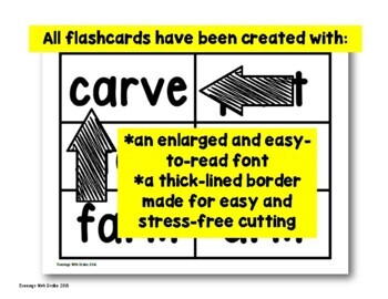 Flashcards (r-controlled words are/ar) Set 2
