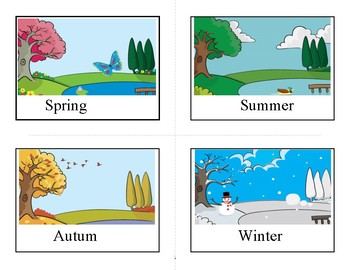 Flashcards seasons of the year by Albert Norja | TpT