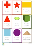 Flashcards shapes in French - Les formes