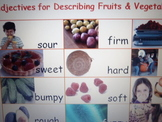 Flashcards that describe food