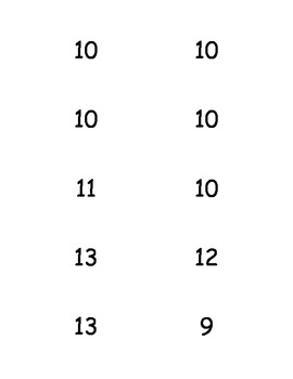 Flashcards to 10 and +5 addition