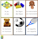 Flashcards - toys in French, 2 pages, 18 cards