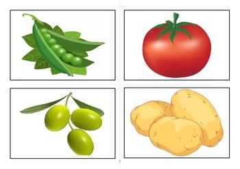 Flashcards vegetables