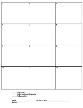 Flashcards with a Picture Clue Template