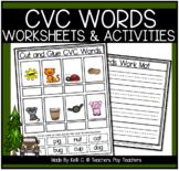 3 Letter Words | CVC Words Worksheets | Short Vowels Worksheets