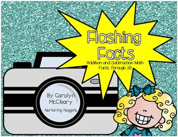Flashing Facts (Flash Cards through 20 with unknowns in all positions)