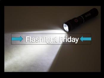 Flashlight Friday Classroom Door Sign