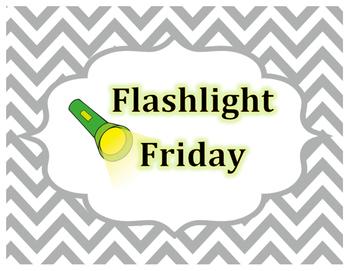 Flashlight Friday Sign