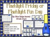 Flashlight Friday or Fun Day Parent Letter, Reward Chart,