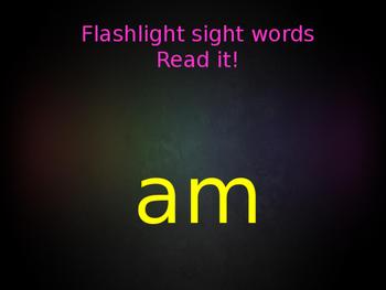 Flashlight Sight Words Powerpoint (Fry's Lists)