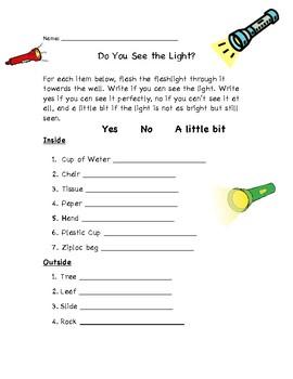 Flashlight Lesson