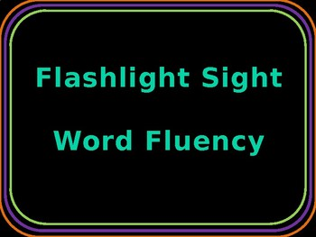 Flashlight Sight Words