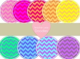 Flashy Chevron Circles Clipart