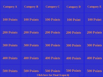 Flashy Jeopardy Template with Animations, Sounds, Voices!