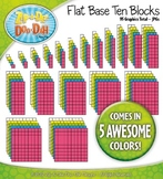 Flat Base Ten Blocks Clipart Set {Zip-A-Dee-Doo-Dah Designs}