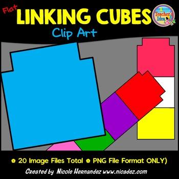 Flat Linking Cubes Clip Art for Teachers