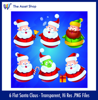 Flat 'Santa Claus' Set (Digital Clip Art)