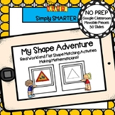 Flat Shape And Real Life Shape Matching Activities For GOOGLE CLASSROOM