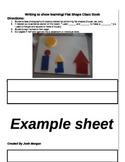 Flat Shape Book: Shared Math Writing