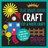 Flat Shape House Landscape Craft