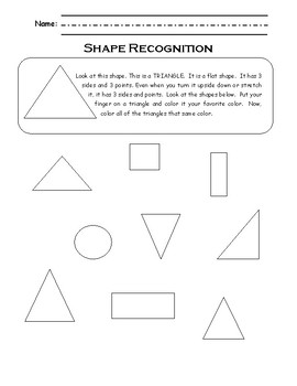 Flat Shape Recognition Packet