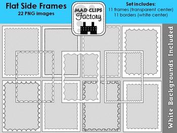Flat Side Doodle Frames {Set}