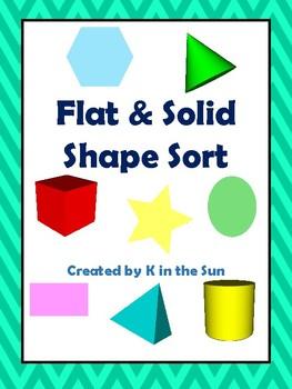 Flat/Solid Shape Sort