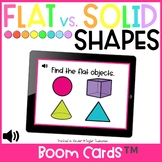 Flat Solid Shape Sort/ Distance Learning / Boom Cards™