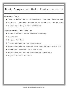 Flat Stanley Speech- Language Companion (Common Core Aligned)