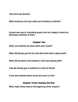Flat Stanley Book Work