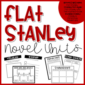 Flat Stanley Bundle- 5 Print and Go Novel Units