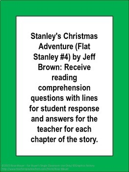 Stanley's Christmas Adventure Book Unit