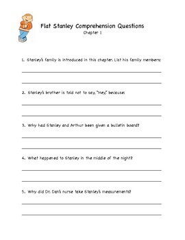 NO PREP Flat Stanley Comprehension Comprehension Packet