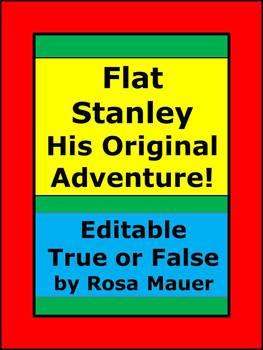 Flat Stanley His Original Adventure Editable Book Unit