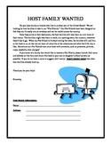 Flat Stanley Host Family Letter