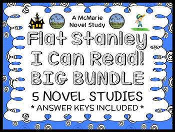 Flat Stanley (I Can Read) COLLECTION : 5 Novel Studies / Comprehension (89 pgs)