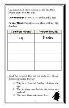 Flat Stanley (I Can Read!) BIG BUNDLE : 5 Novel Studies / Comprehension (89 pgs)