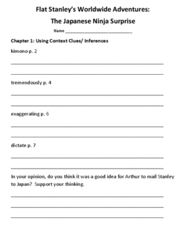 Flat Stanley Japanese Ninja Surprise: Let's Read! (Reading Response Packet GR O)