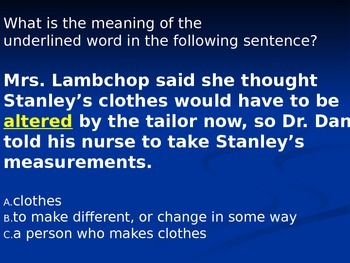 Flat Stanley Jeopardy