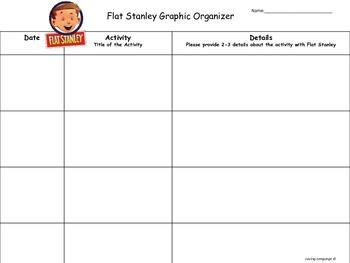Flat Stanley Parent Letter, Graphic Organizer & Rubric