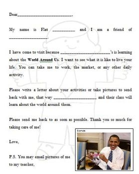 Flat Stanley Letter Writing Graphic Organizer