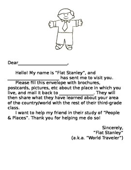 Flat Stanley Letter for Students of All Ages