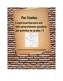 Flat Stanley - Literature Unit With Multiple Levels of Com