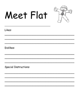 Flat stanley meet flat by miss andria teachers pay for Free printable flat stanley template