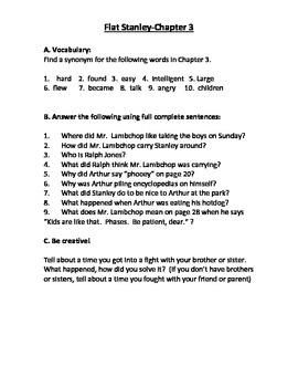 Flat Stanley Novel Study
