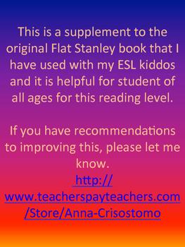 Flat Stanley Original Comprehension Assessment