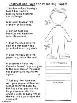 Flat Stanley - Paper Bag Puppet Craftivity