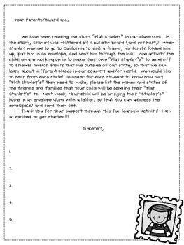 Flat stanley parent letter by kelly mchaffie teachers pay teachers flat stanley parent letter altavistaventures Image collections