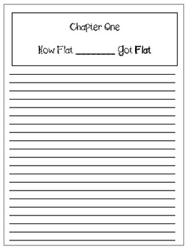 Flat Stanley Personalized Student Story Writing Package Grades 1-4