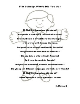 Flat Stanley Poem